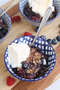 Berry Crisp Recipe on the Grill